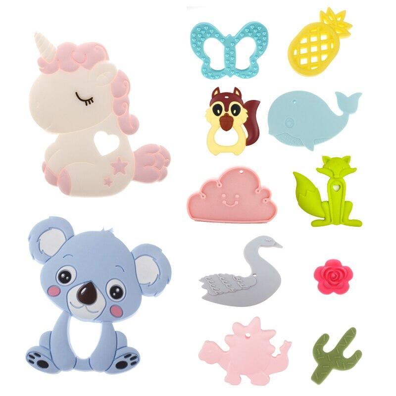ATOB Safe Silicone Baby Teether Toy Bpa Free Unicorn Chew Toys Teething Rings Teethers For Babies Teethers Animal Koala