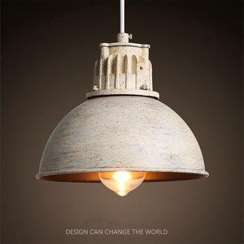 Retro Wrought Iron Pendant Lamp Loft Industrial Restaurant Bar Counter Creative Nostalgic Iron Pot Hanging Light With E27 Bulb