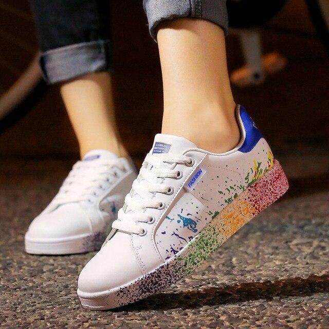 Fashion PU Graffiti Sneakers 6