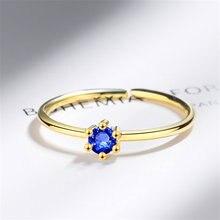 Женское Открытое кольцо с круглым и квадратным камнем из серебра