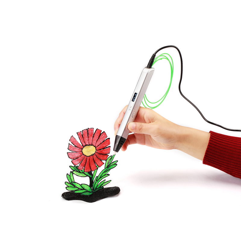 Pluma de dibujo 3d profesional para dibujar, 3d Lihuachen Rp800a pluma de dibujo con pantalla Oled, artes y manualidades y pluma de rompecabezas