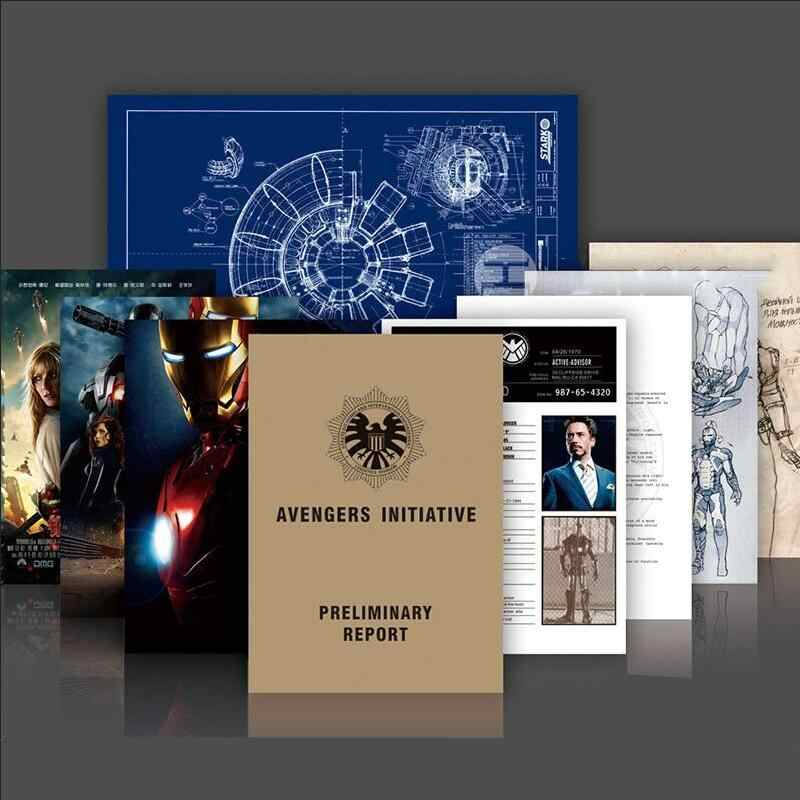 New Iron Man Tony Stark File Arc Reactor Informazioni di Progettazione Grafica Agenti di SHIELD Vendicatore Action Figure Per I Bambini