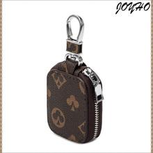 Fashion Women Men Plaid Car Key Case Leather Keys Holder Smart Housekeeper Zipper Keychain Case Car Key Pouch Bag Car Key Wallet
