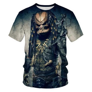 Men's T-Shirt Short-Sleeve Science-Fiction Predator-Series Thriller 3d-Print Breathable