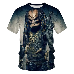 Hot sell science fiction thriller Predator series men's T-shirt 3D print cool casual short sleeve summer top breathable Tshirt