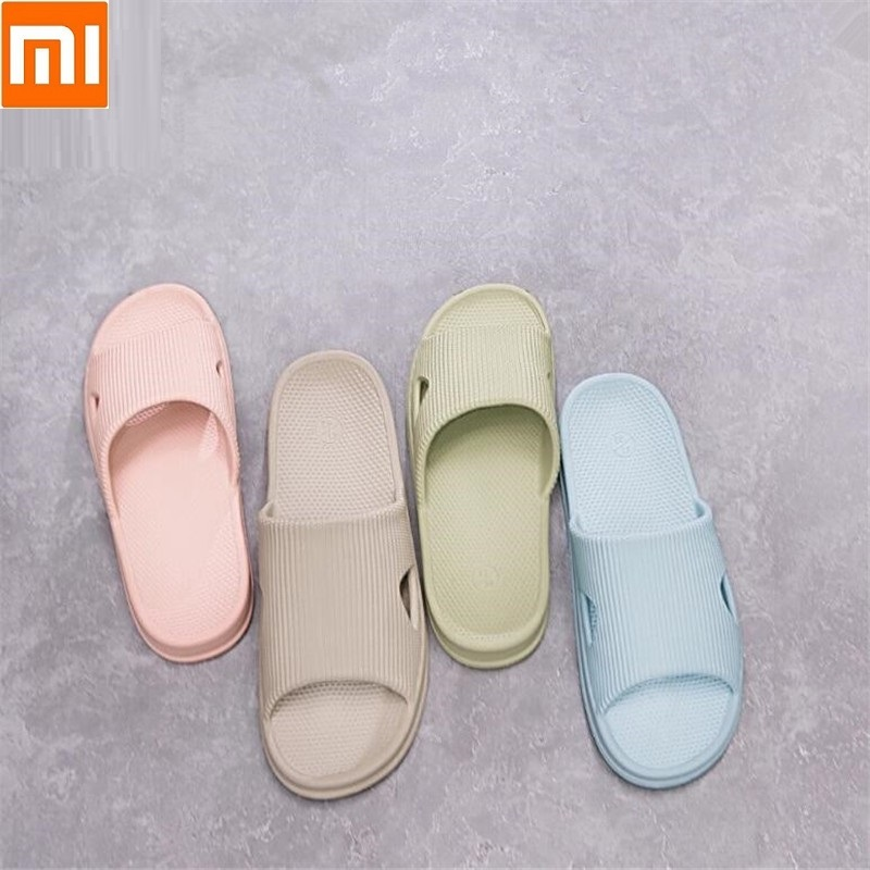 Xiaomi One cloud Home slippers Bathroom slippers Soft and breathable Women Men Casual sandals Non-slip wear(China)