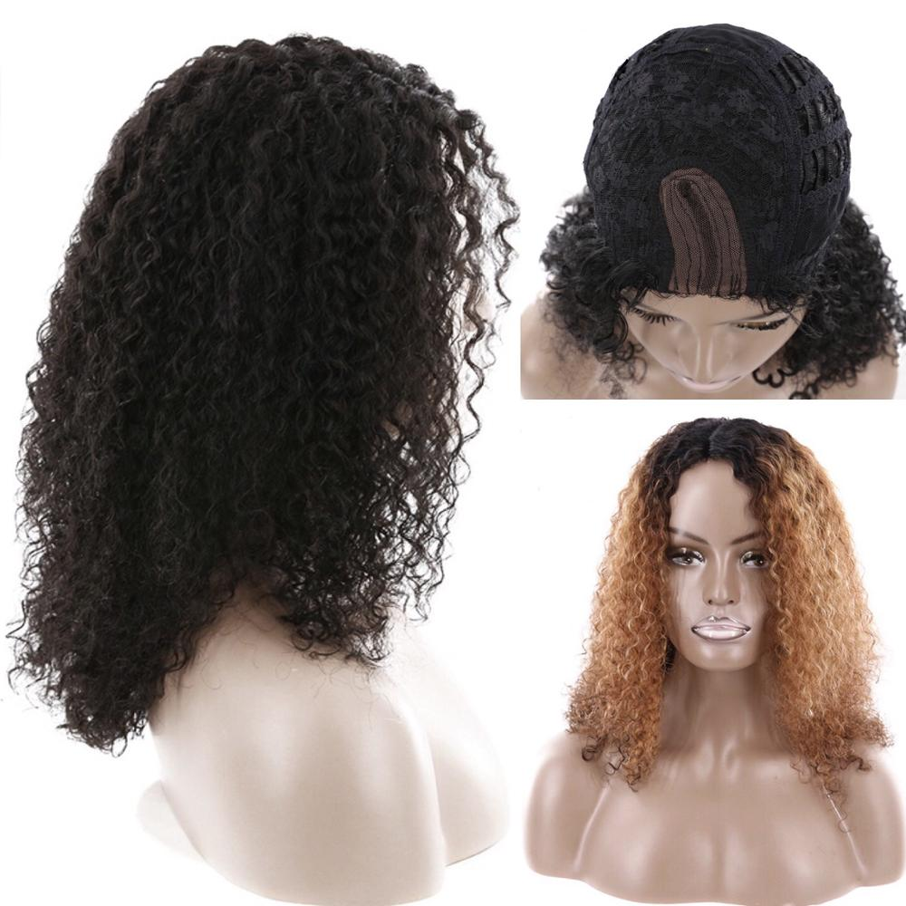 Afro Human Hair Wig 18 Inches 110g Natural Color 100% Human Hair Lace Frontal Wig Remy Hair Free Shipping IJOY