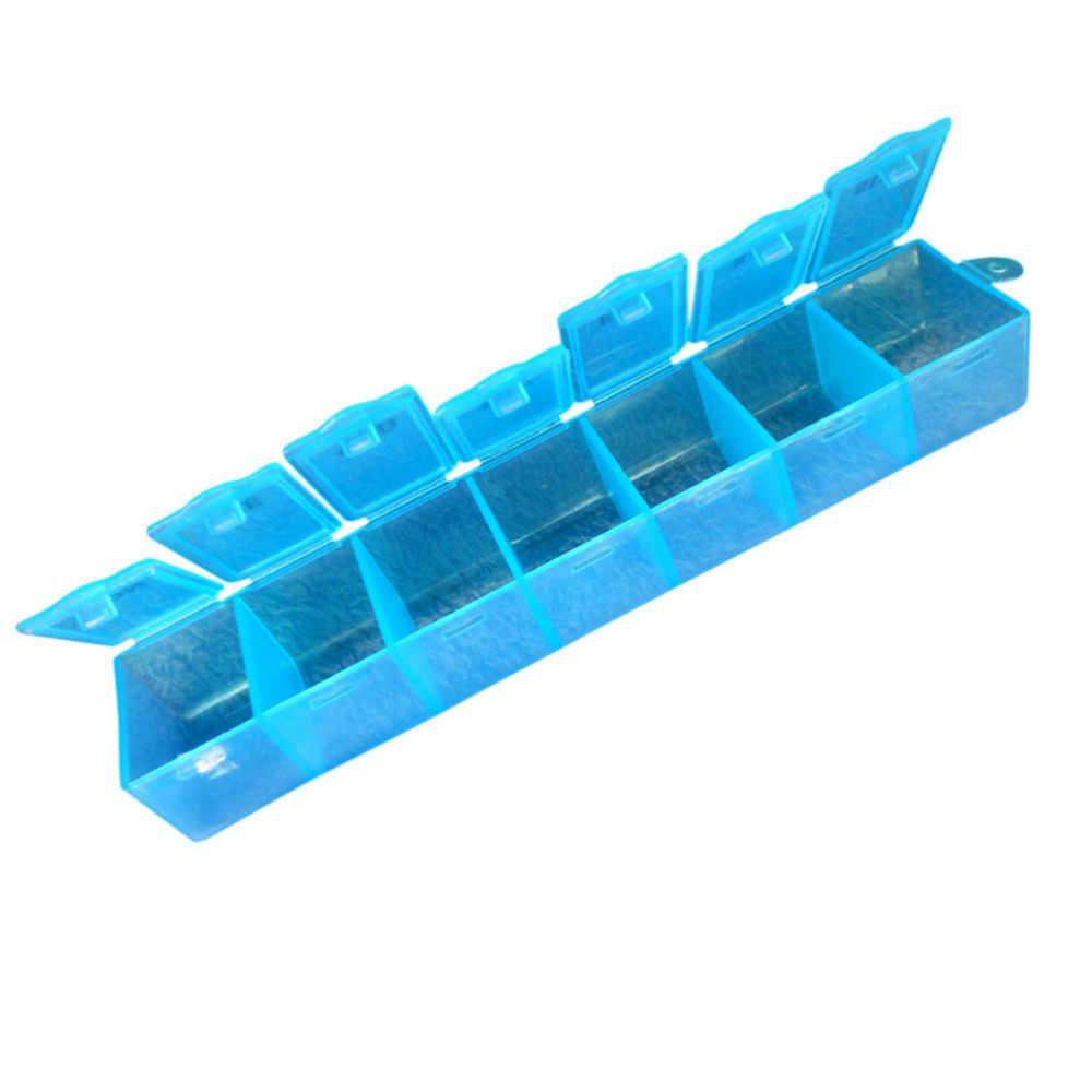 알약 상자 스플리터 홀더 스토리지 주최자 컨테이너 케이스 무작위 컬러 7 일 주간 정제 알약 약 상자