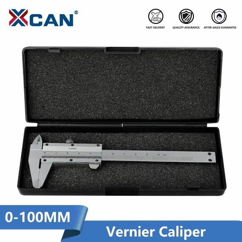 Vernier caliper pinças de aço inoxidável 0-100mm precisão 0.02mm para ferramentas de medição instrumento pinças de metal calibre