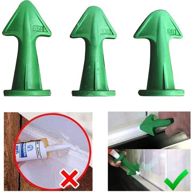 3pcs Multi-functional Silicone Sealant Nozzle Scraper Floor Caulking Tools Silicone Sealant Nozzles Kit Home Improvement 3