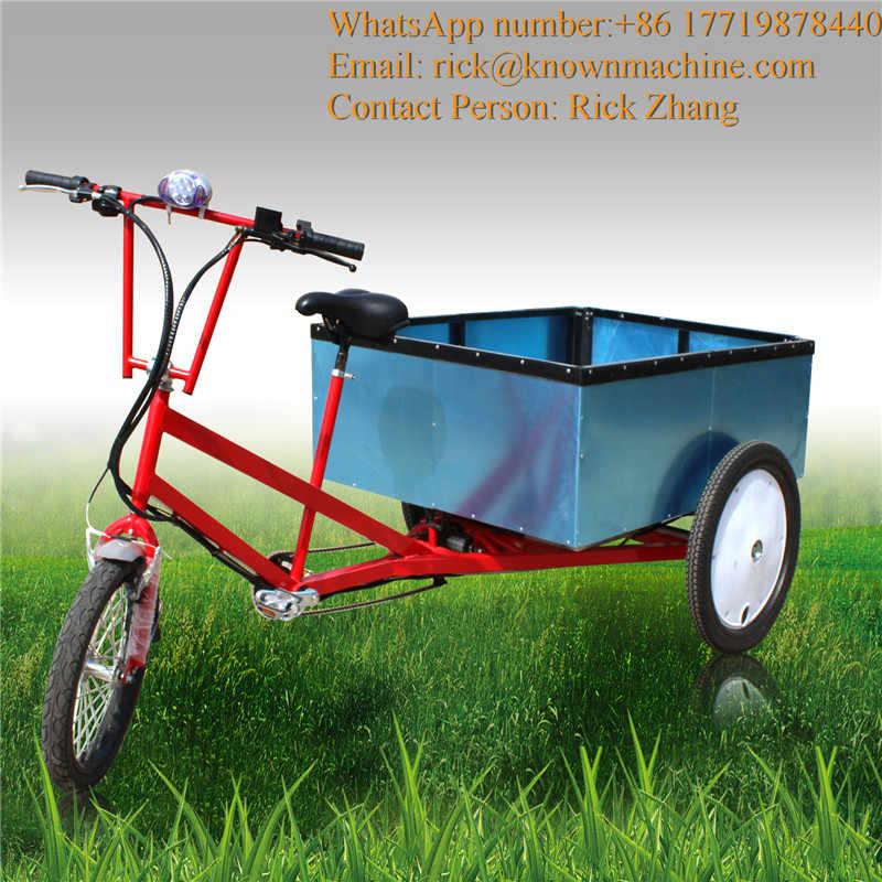 電気/ペダル背後ボックス貨物三輪車/ピックアップトライクに商品を運ぶ ce 認証と 3 輪