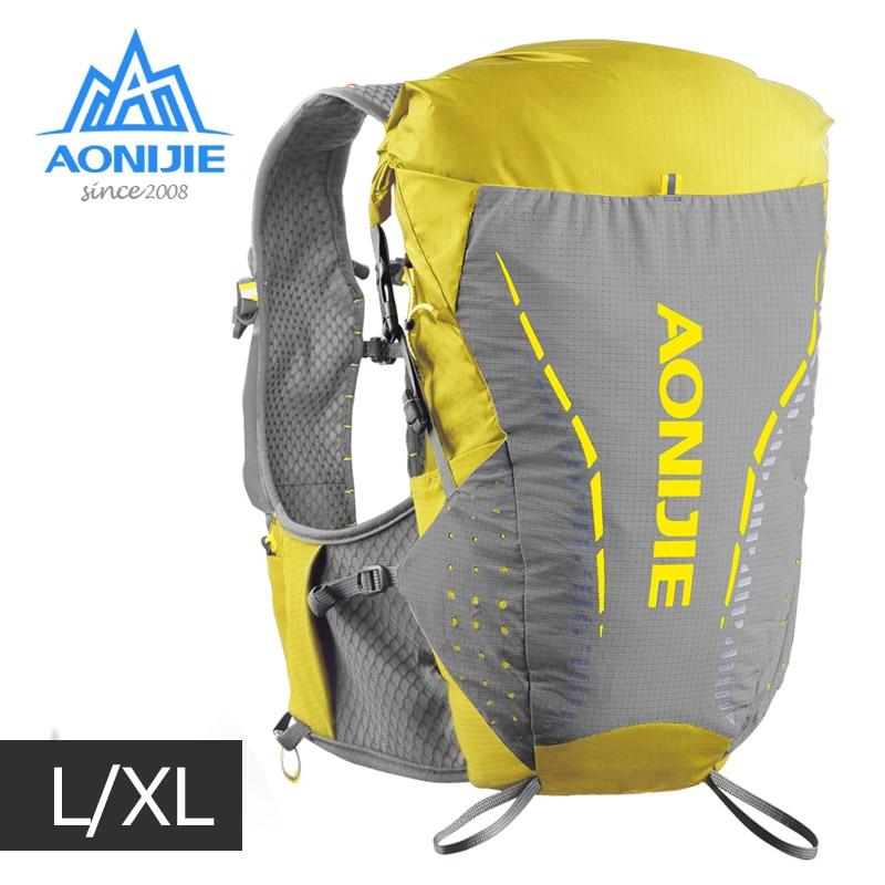 LXL Size AONIJIE C9104 Ultra Vest 18L Hydration Backpack Pack Bag Soft Water Bladder Flask For Trail Running Marathon Race