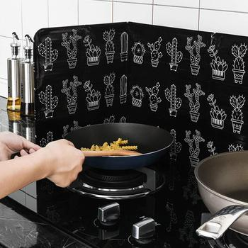 Non-stick 3 jednostronne Splatter tarcza straży domu kuchenka do gotowania folia płyta zapobiec oleju Splash gotowanie gorąca przegroda gadżety kuchenne tanie i dobre opinie YIWUMART Ekologiczne Zaopatrzony Aluminum Foil Splatter ekrany DKF1973 2 styles Waterproof high temperature resistant foldable