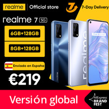 Realme-teléfono inteligente 7 5G, Smartphone con pantalla de 120Hz, 6GB, 128 GB, 5000mAh, 30W, carga rápida, envío desde España en 3 días
