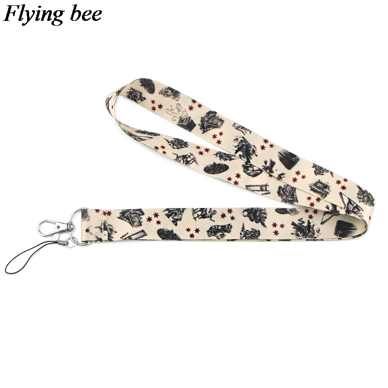 Flyingbee  Witchcraft And Wizardry Lanyard Keychain  Phone Lanyard Fashion Strap Neck Lanyards For ID Card Phone Keys X0842