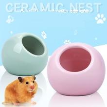 Nest Bath-House Critter Small Hamster Shade Pet-Supplies Ball-Shape Ceramic