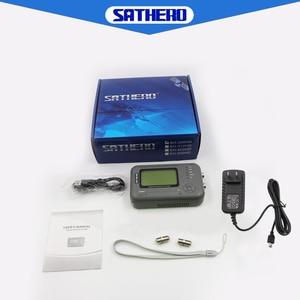 Image 5 - Sathero SH 200HD DVB S2 finder satellite meter portable high quality TV Signal Meter HD satfinder bulit in capacity battery