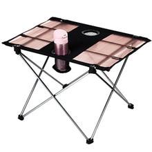 Table pliante extérieure en aluminium Tables portatives Table de Camping Simple Table de pique nique en plein air