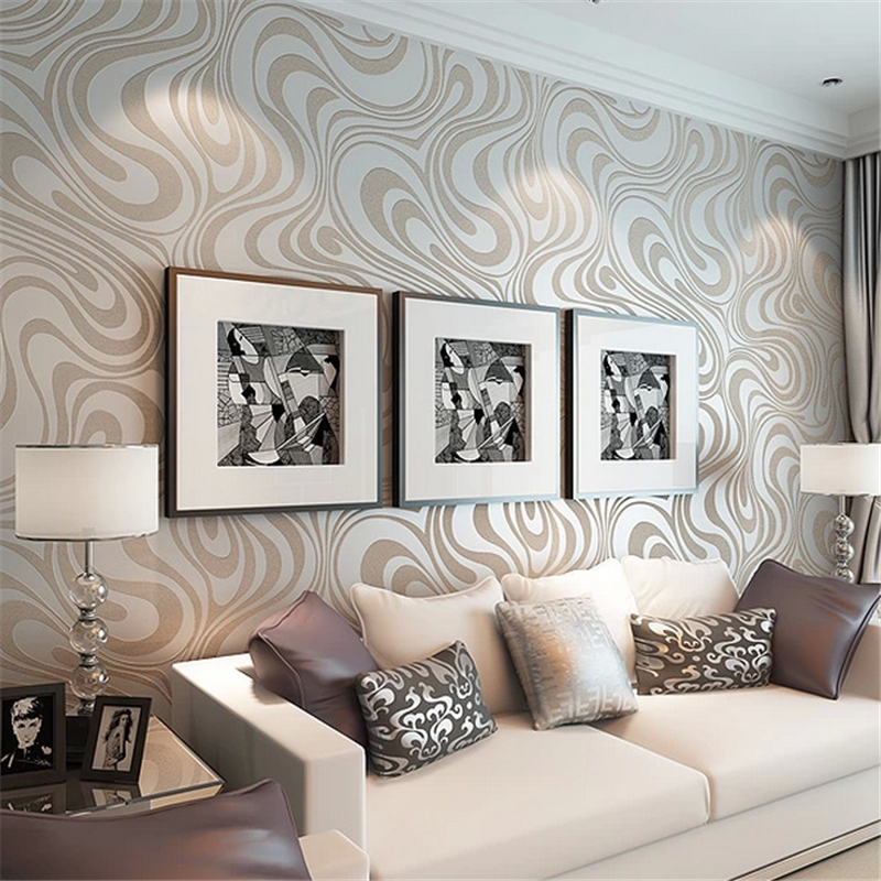 papel de parede High quality 0.7m*8.4m Modern Luxury 3d wallpaper roll mural papel de parede for striped living room wall paper