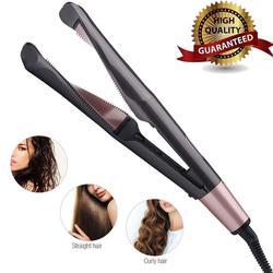 Профессиональный Выпрямитель для волос, щипцы для завивки 2 в 1, турмалиновый керамический витой плоский утюг с ЖК-дисплеем и автоматическим...