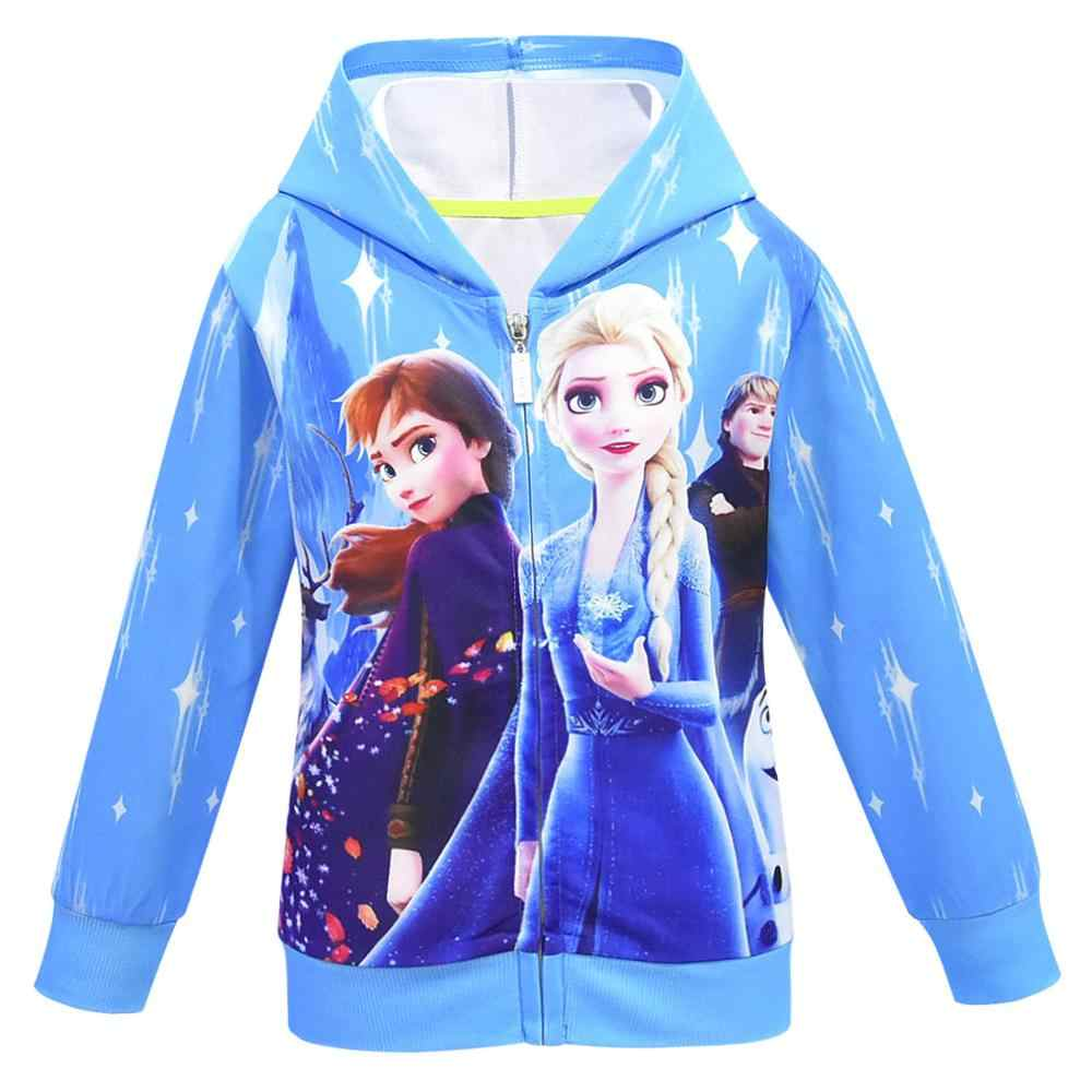 น้ำแข็งหิมะโลก 2 แจ็คเก็ตหญิง Anna Elsa Hoodies สำหรับสาวแขนยาวเด็กเสื้อผ้าเด็กวัยหัดเดินเสื้อเด็กเสื้อผ้า