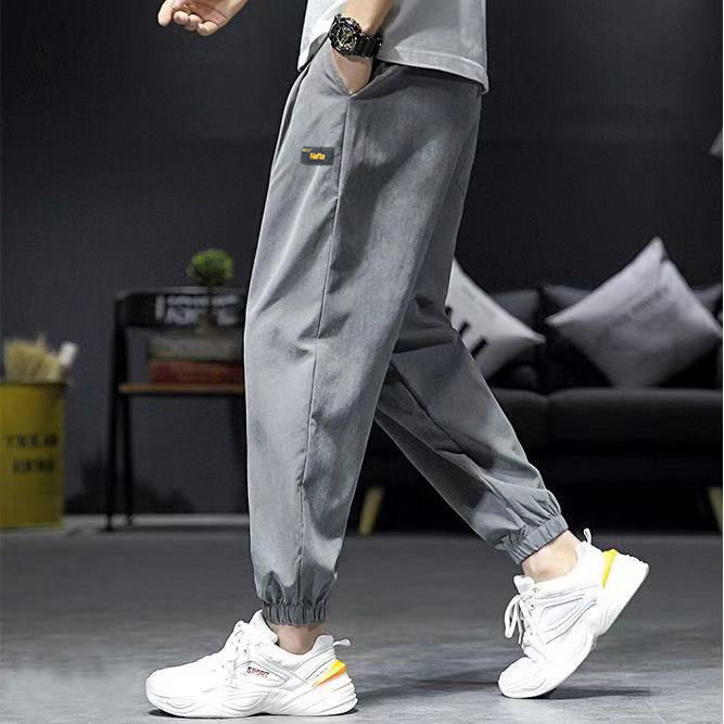 2020 Fashion Loose Sports Casual Pants Men's Beam Foot Harem Pants Solid Joggers Pants Mens Cotton Hip Hop Casual Trousers