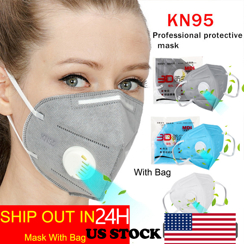 Fast Ship In 24hours Antivirus Flu Anti Infection Mask Particulate Respirator PM2.5 Protective Safety Same As N95 Mask KF94 FFP2