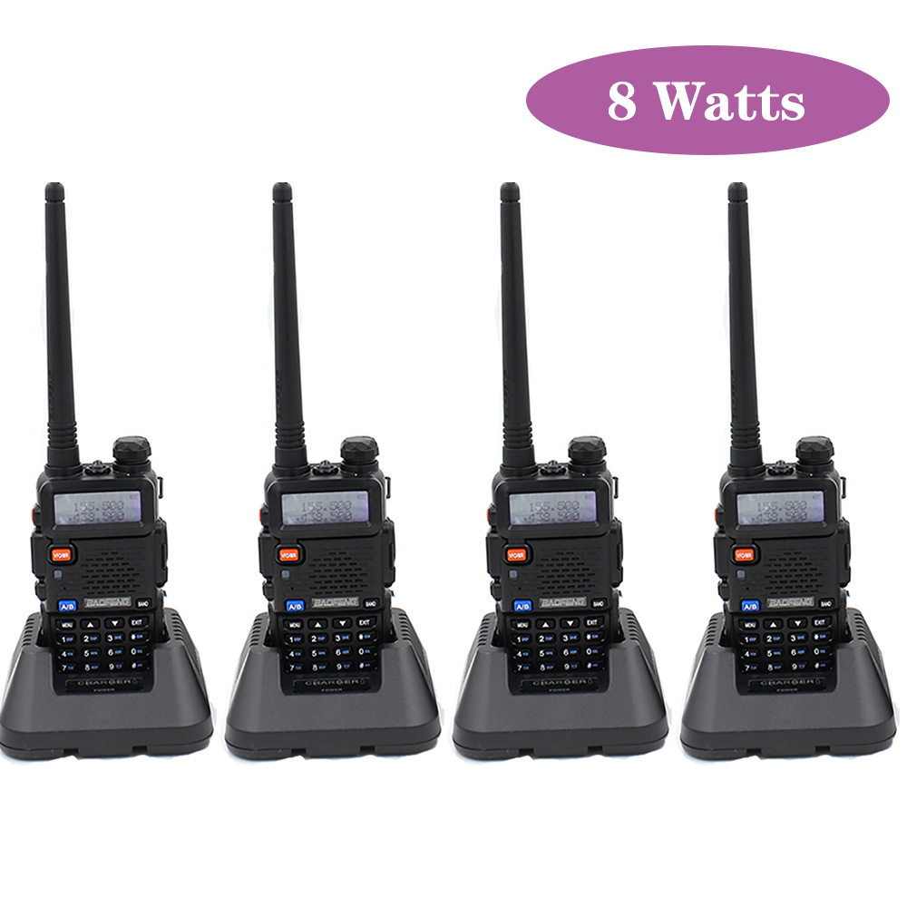 4PCS Baofeng UV-5R Portable Walkie Talkie Radio Station 128CH VHF UHF Dual Band UV5R Two Way Radio For Hunting Ham Radio CB