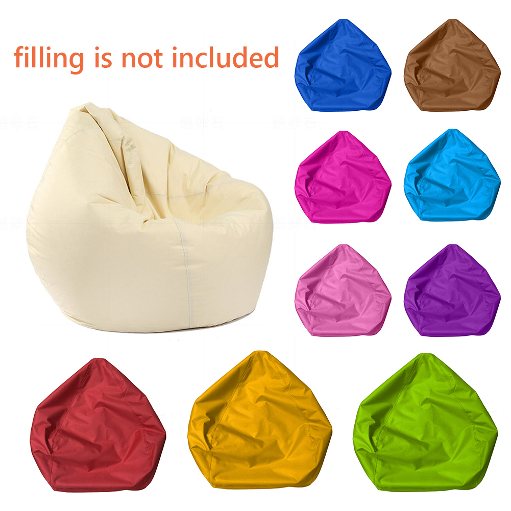 1PCS 60x65cm Waterproof Stuffed Animal Bean Bag Cover Solid Colorful Oxford Chair Cover For Beanbag(filling Is Not Included)