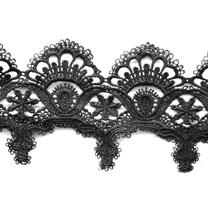 (100 Yards/roll) 85mm Black Lace Fabric Webbing Decoration Love Gift Packing Material Applique Wedding Dress Sewing Accessories