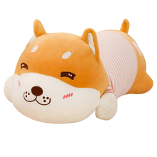 цена на New Hot Cute Dog Plush Toys Stuffed Down Cotton Animal Doll Kawaii Corgi Shiba Inu Toys for Children Soft Pillow Birthday Gift