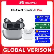 Stokta küresel sürüm HUAWEI Freebuds Pro Smartearphone Qi kablosuz şarj için ANC fonksiyonu Mate 40 Pro P30 Pro