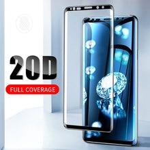 20D полностью изогнутое закаленное стекло для samsung Galaxy S8 S9 Plus Note 8 9 Защита экрана для samsung A8 A6 S7 защитная пленка