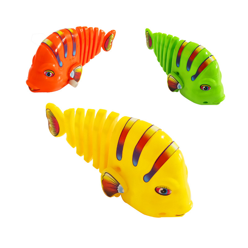 Colorful Winding Sway Fish Spring WAG Cartoon Fish-Winding Toy Fish Stall Hot Selling Wholesale CHILDREN'S Toy