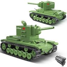 818 PCS Blocos de Construção Do Tanque Tanque Militar Rússia Soviética KV2 Fit Legoing WW2 Soldado Do Exército Polícia Tijolos Crianças Brinquedos Para Crianças presentes