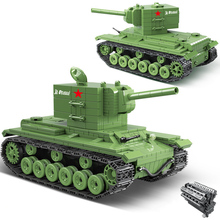 City 818PCS Military Tank Soviet Russia KV2 Heavy Tank Building Blocks Soldier Police Army Bricks Kids Children DIY Toys Gifts