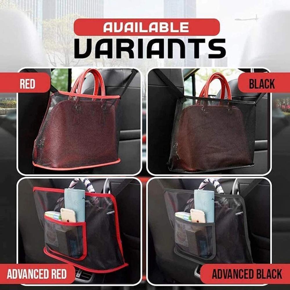 Автомобильный сетчатый Карманный держатель для сумки, сумки, документов, телефона, ценные предметы (сумка, показанная на картинке, не входит...