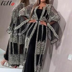 Элегантное женское платье, мода 2020, новые длинные платья в стиле high street fair maiden, Длинные платья длиной до пола с роговым рукавом