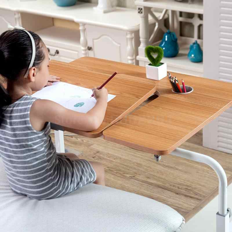256 alunos da tabela de aprendizagem das crianças tabela de escrita móvel dobrável mesa do computador em toda a cama do agregado familiar simples cama