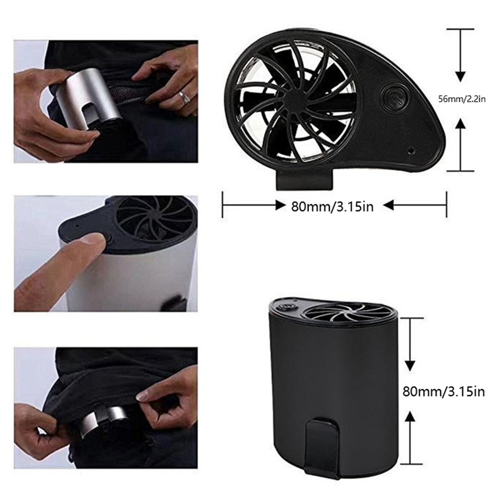 F100 USBPortable Mini Mobile Cooler Small Waist Fan Portable Rechargeable USB Clippable On Belt For Sports Outdoors