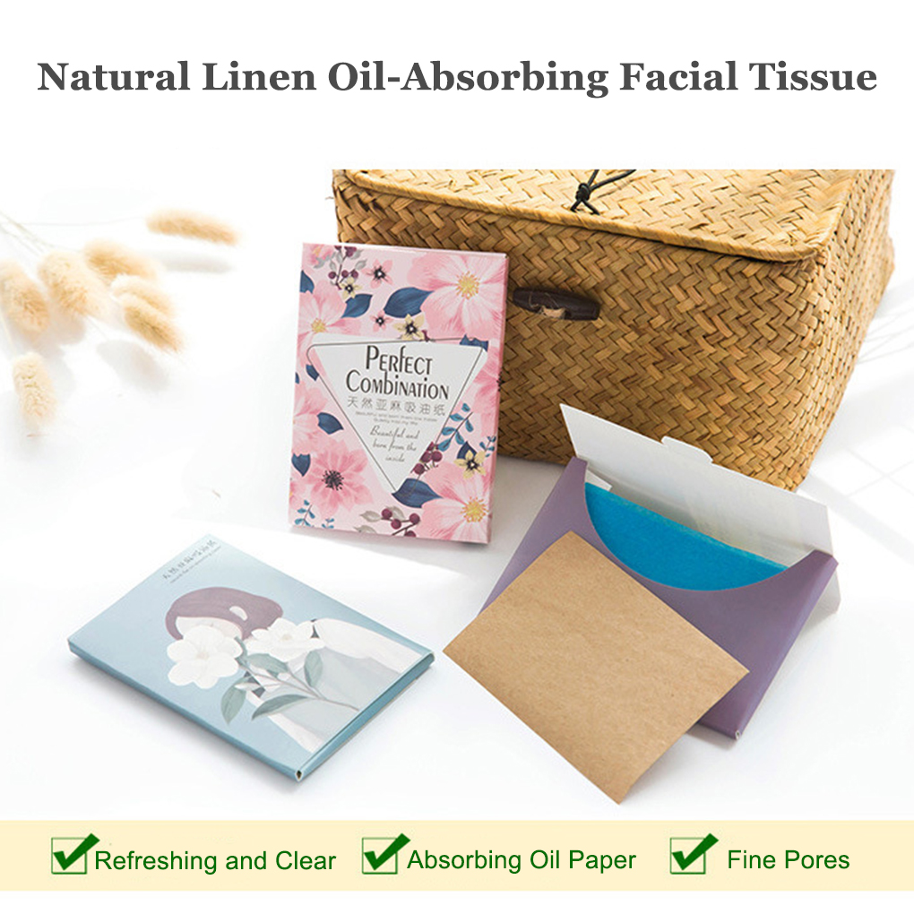 50PCS/Set Portable Facial Absorbent Paper Oil Control Wipes Absorbing Sheet Oily Face Cleansing Matting Tissue