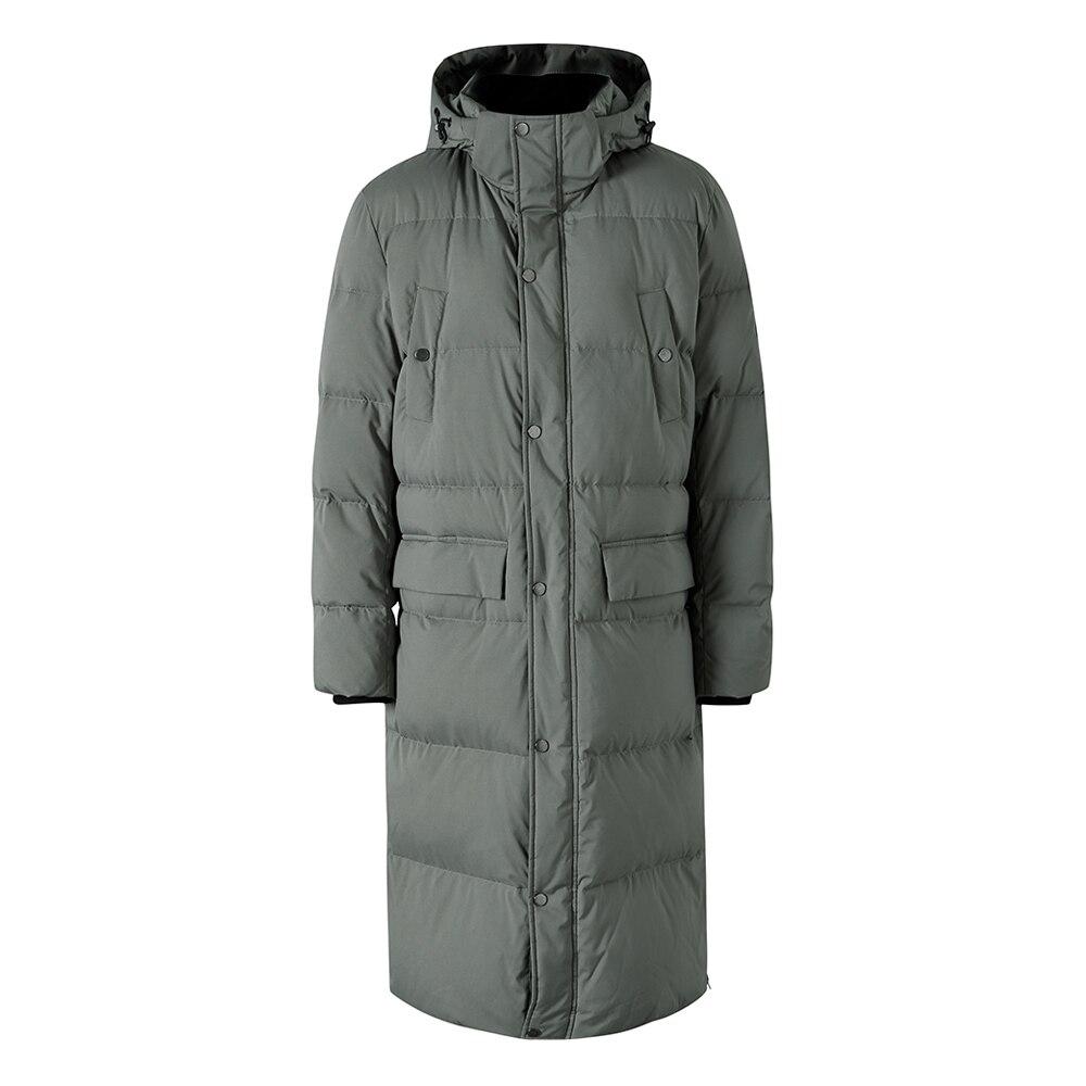 Metersbonwe 2019 longue vers le bas vestes d'hiver affaires longue épaisse hiver vers le bas manteau hommes solide mode pardessus vêtements d'extérieur chaud - 6