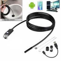 Nowy 5.5mm 7mm 1M 2M kabel USB wodoodporna 6LED Android endoskop 1/9 CMOS Mini endoskop USB kontroli kamera boroskop