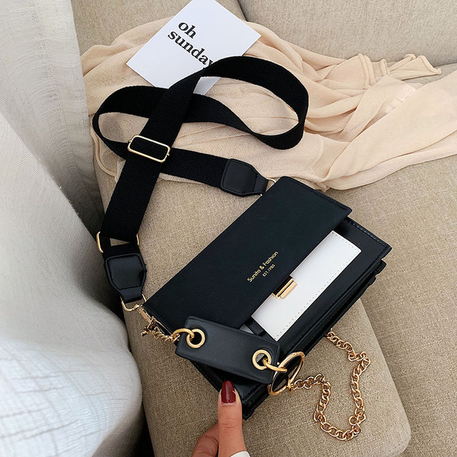 2019 新ミニハンドバッグ女性ファッションイン超火災レトロワイドショルダーストラップメッセンジャーバッグ財布シンプルなスタイルのクロスボディバッグ