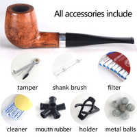 Tabak rauchen briar rohre, briar rohre, 9MM filter #201, Gerade rohr, billard form