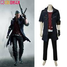 Costume Cosplay Nero Cosplay gioco DMC Nero Trench Jacket adulto uomo Halloween Outfit set completo tutte le dimensioni due versioni cappotto blu