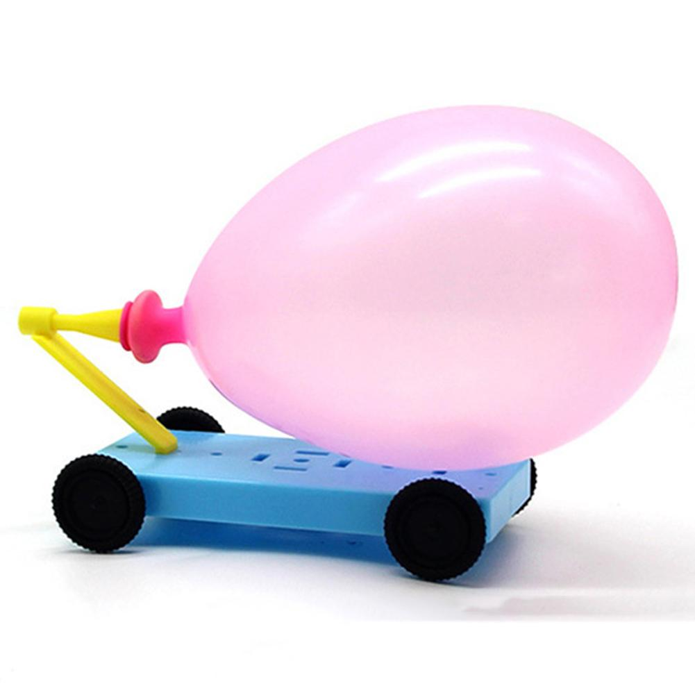 Diy Balloon Powered Car Science And Technology Experimental Student Toy New Year Gift