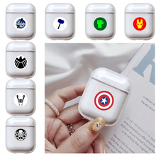 Soft Silicone Cute Earphone Case For Apple airpods Luxury Marvel Superhero Transparent Airpods in Accessories