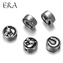 4pcs Stainless Steel 2mm Small Hole Horseshoe Spacer Beads DIY Beaded  Bead Bracelets Accessories Making Charms Jewelry