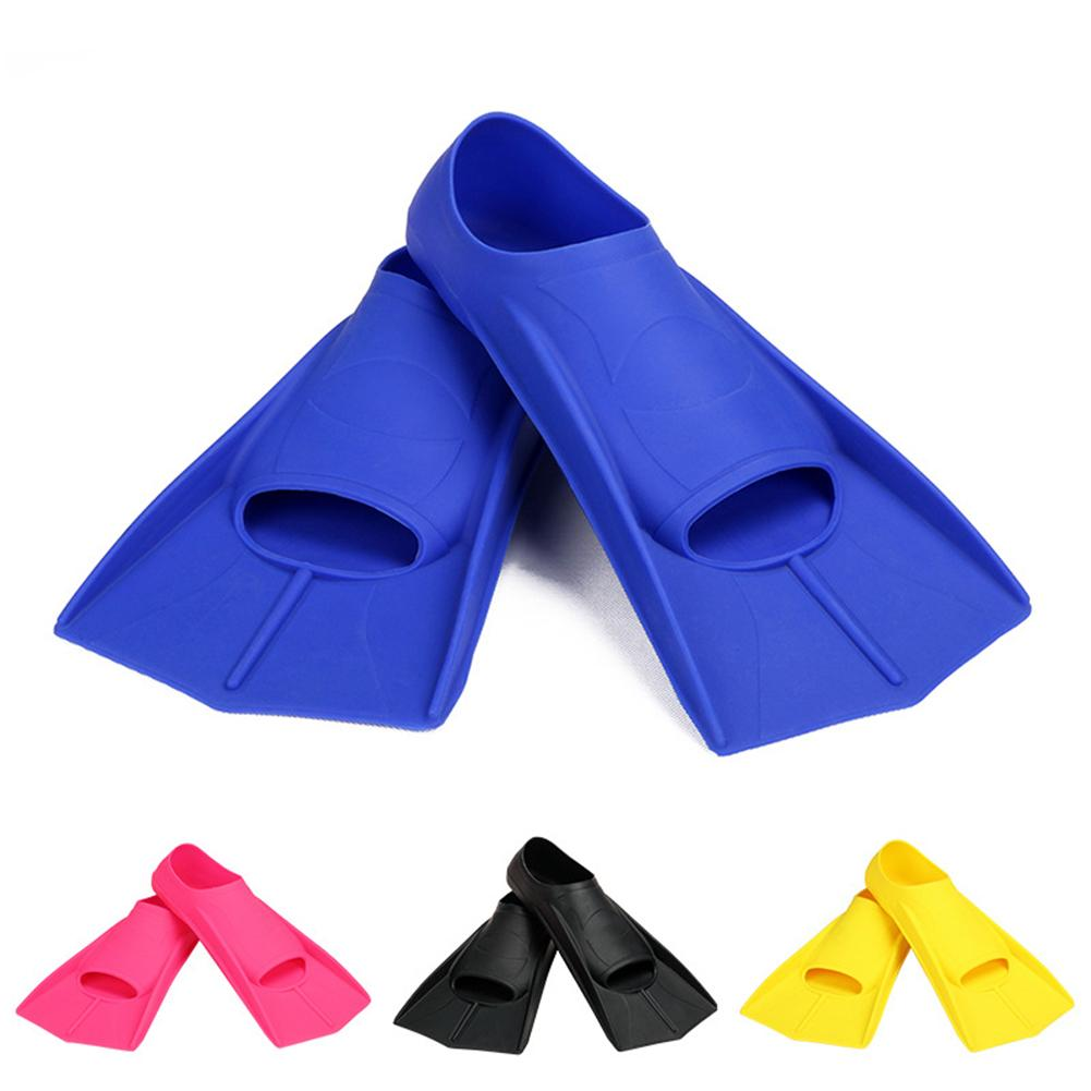 Silicone Professional Scuba Diving Fins Short Men Women Snorkel Swimming Fins Kids Flippers Equipment Set Swimming Fins